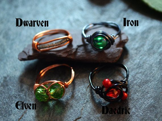 Sale Skyrim Themed Wire Wrapped Rings Dwarven By Elvenwirework