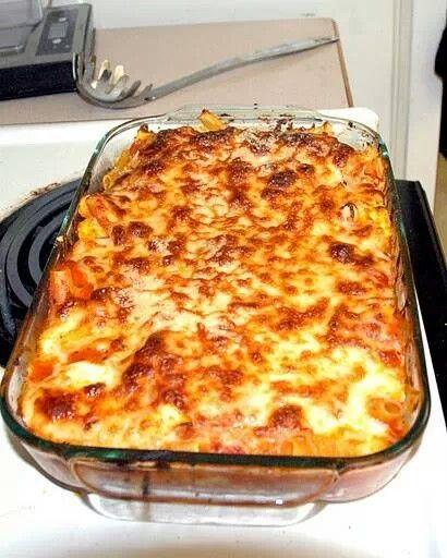 Cheesy bake ravioli