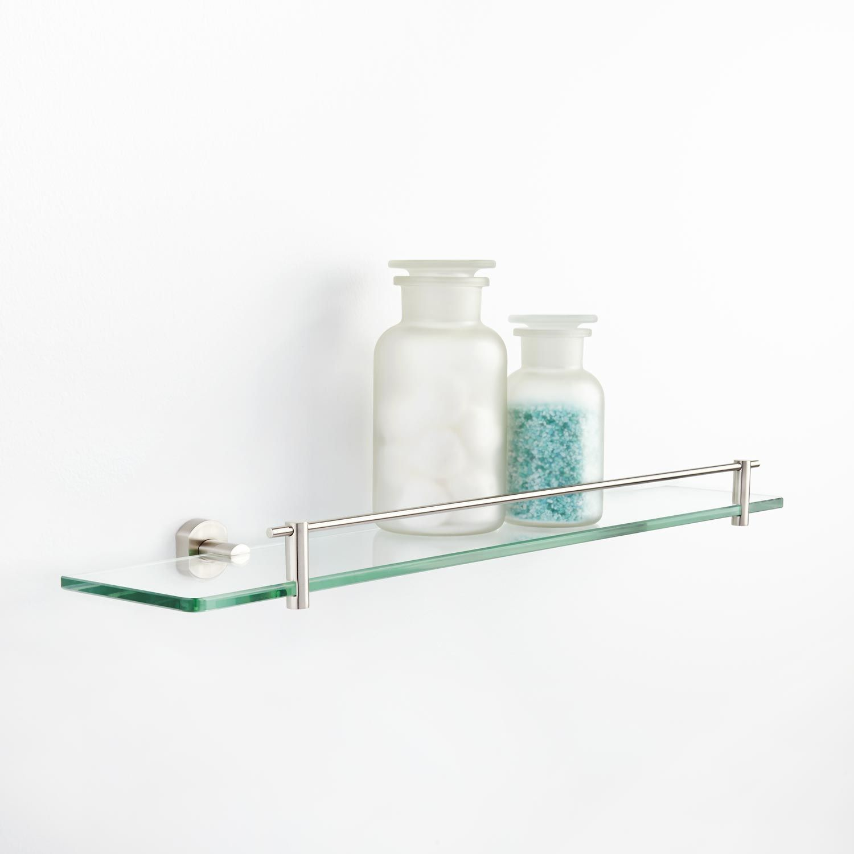 Marlton Tempered Glass Shelf | Tempered glass shelves, Glass shelves ...