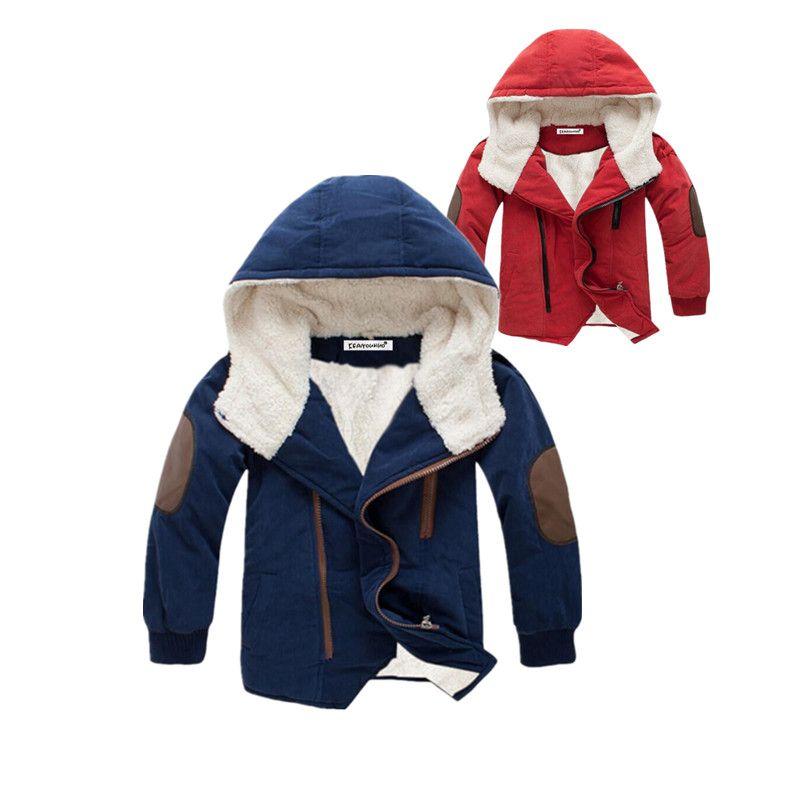 0f2534d22a94 Nice 3-12 yrs 2017 Boys Coats Fashion Boys Jacket Hooded Kids ...