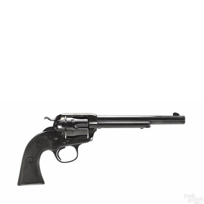 Colt Bisley single action Army revolver, .32 WCF caliber, first generation made in 1907 - Price Estimate: $1200 - $1600
