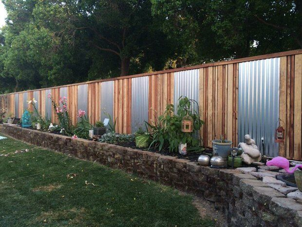 Fancy Diy Backyard Fence Ideas The Garden Glove Privacy Fence Landscaping Backyard Fences Privacy Fence Designs