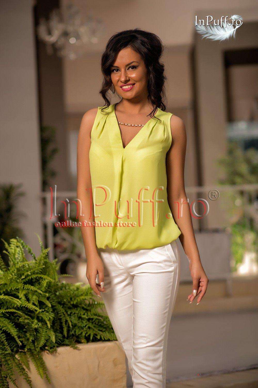bluza voal verde lime inpuff ro rochii de seara haine camasi colanti bluze dama fashion summer fashion women bluza voal verde lime inpuff ro