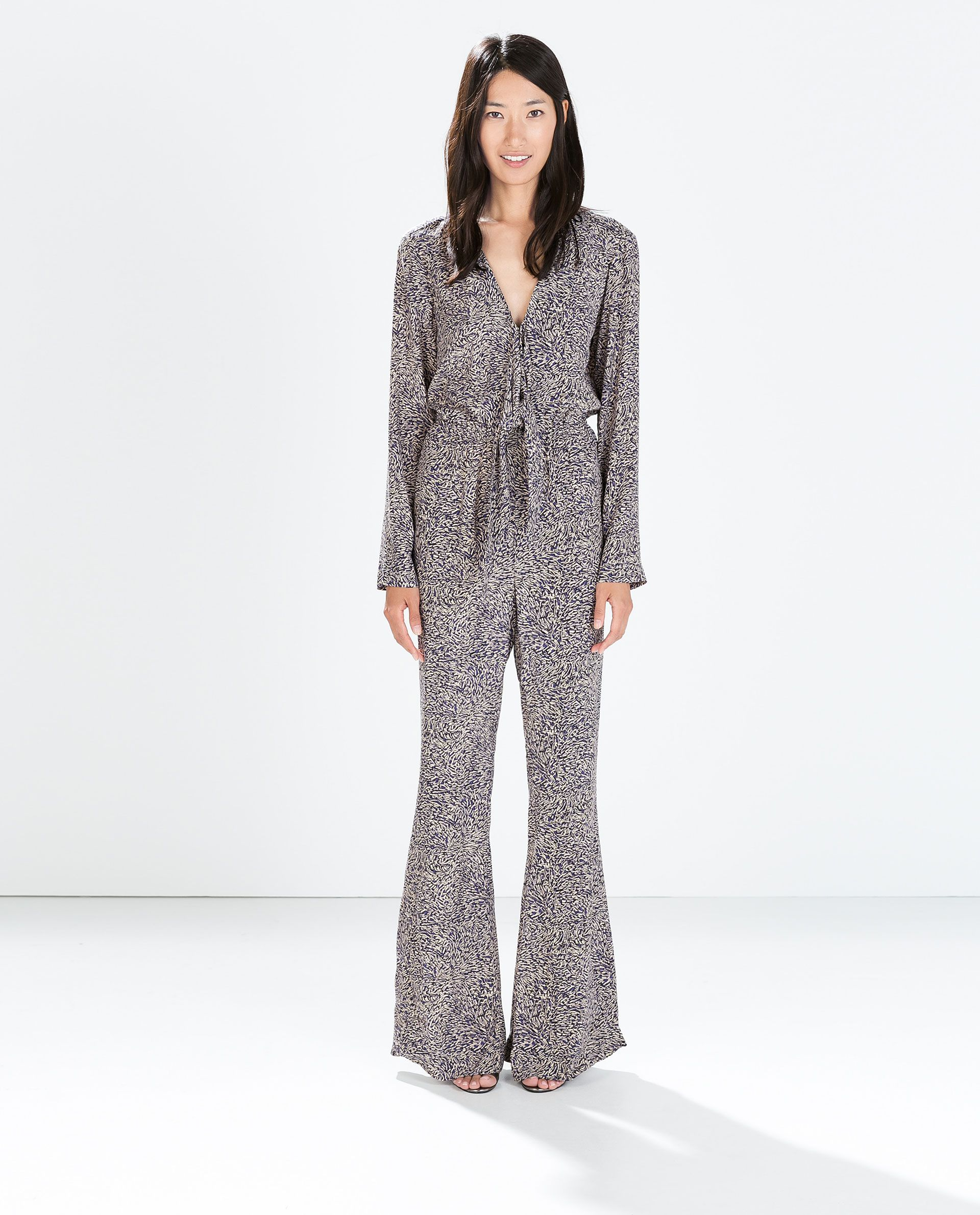 LONG - SLEEVED BELL - BOTTOM JUMPSUIT - Jumpsuits - WOMAN | ZARA ...