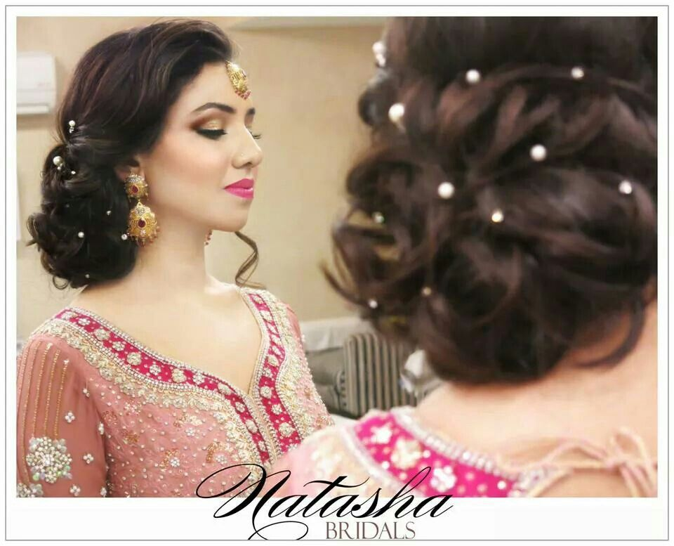 Bridal Hairdo At Natasha Salon | Pakistani Weddings U0026 Traditions | Pinterest | Natasha Salon And ...