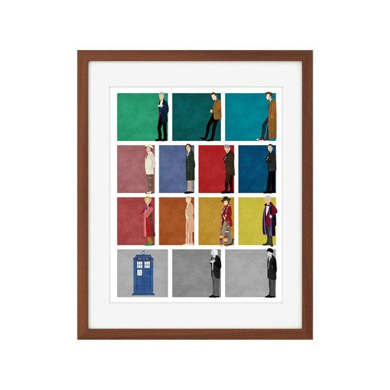 Doctor Who print - All 13 Doctors + the War Doctor + the TARDIS #12doctor