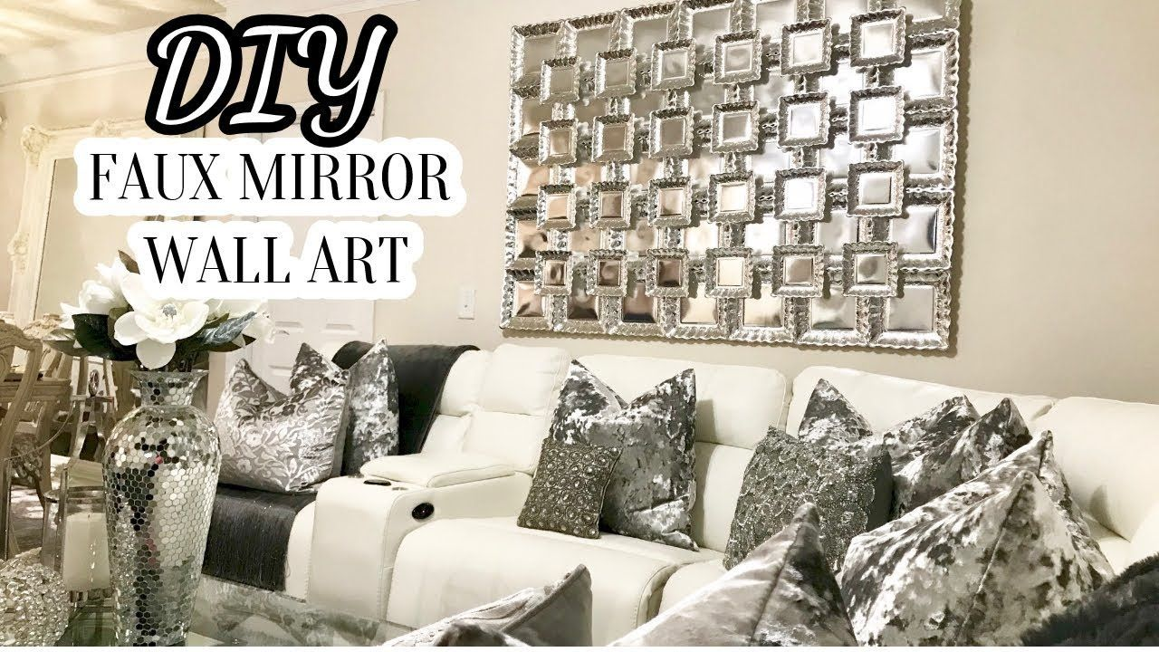 NEW!!! Dollar Tree DIY Faux Mirror Wall Art | THE BEST DIY ...