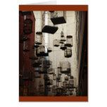 Birdcages suspended in mid-air card  Birdcages suspended in mid-air card  $3.05  by Chocwhisperer  . More Designs http://bit.ly/2g9LYfi #zazzle