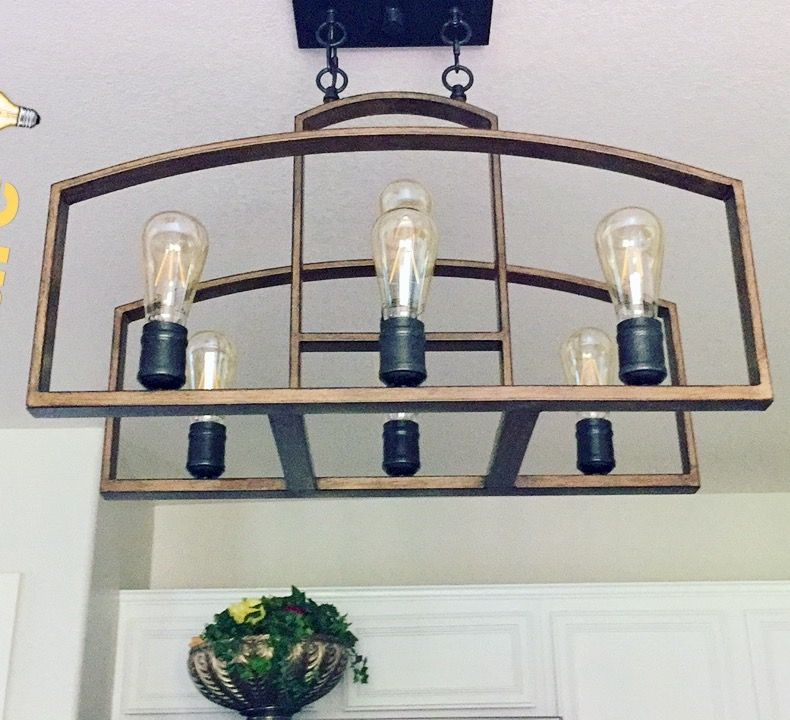 A Great Light Fixture Find Bronze Chandelier Costco Design Solutions International Edison Bulbs Farmhouse Kitchen Led