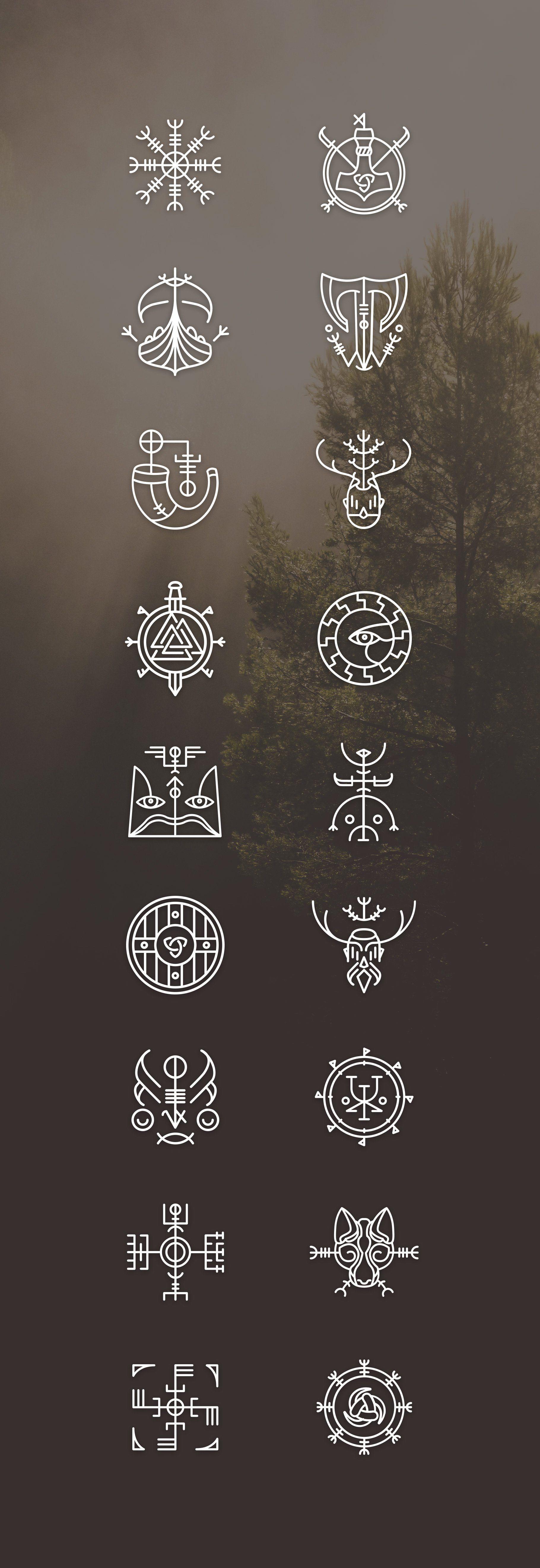 Vikons: the Striking Viking icon set by blanaroo on @creativemarket