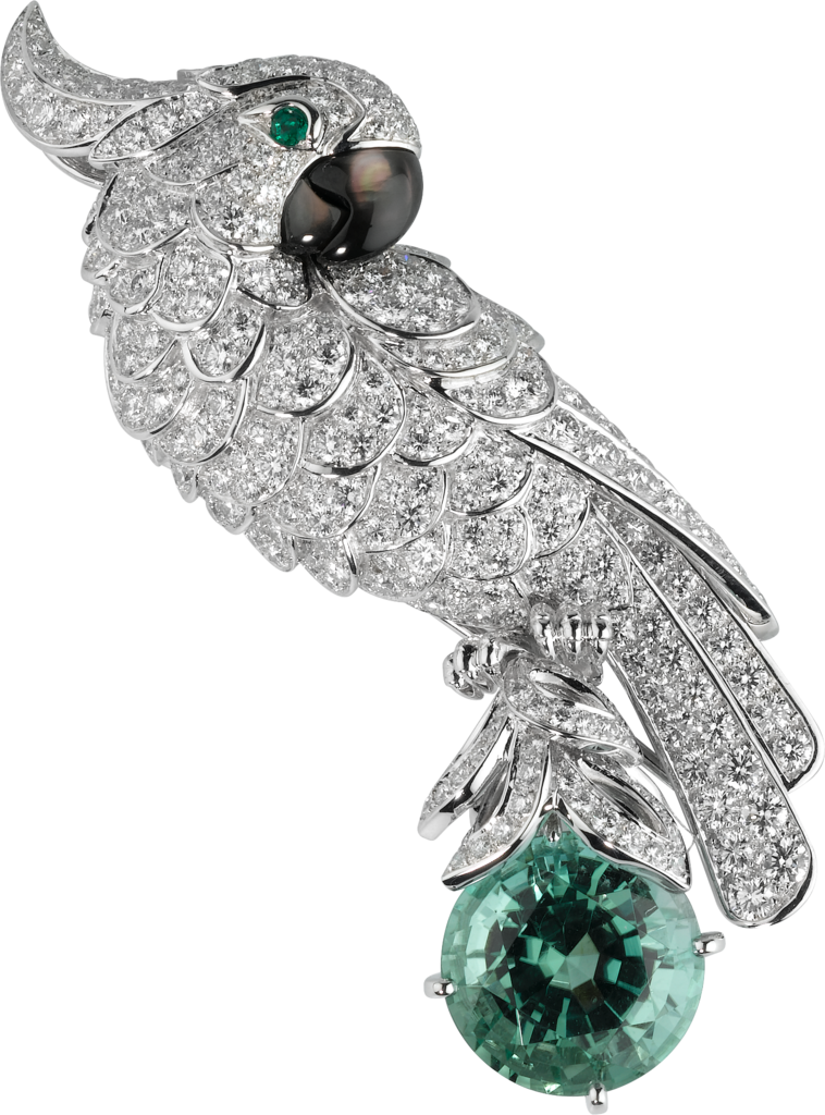 99d4076635a4 Cartier Fauna and Flora brooch Platinum
