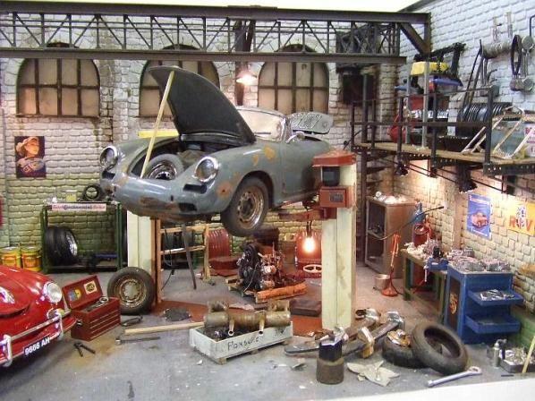 Auto Garage Sale: Model Car Diorama Building Ideas