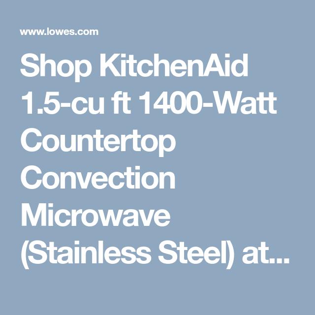 Shop Kitchenaid 1 5 Cu Ft 1400 Watt Countertop Convection