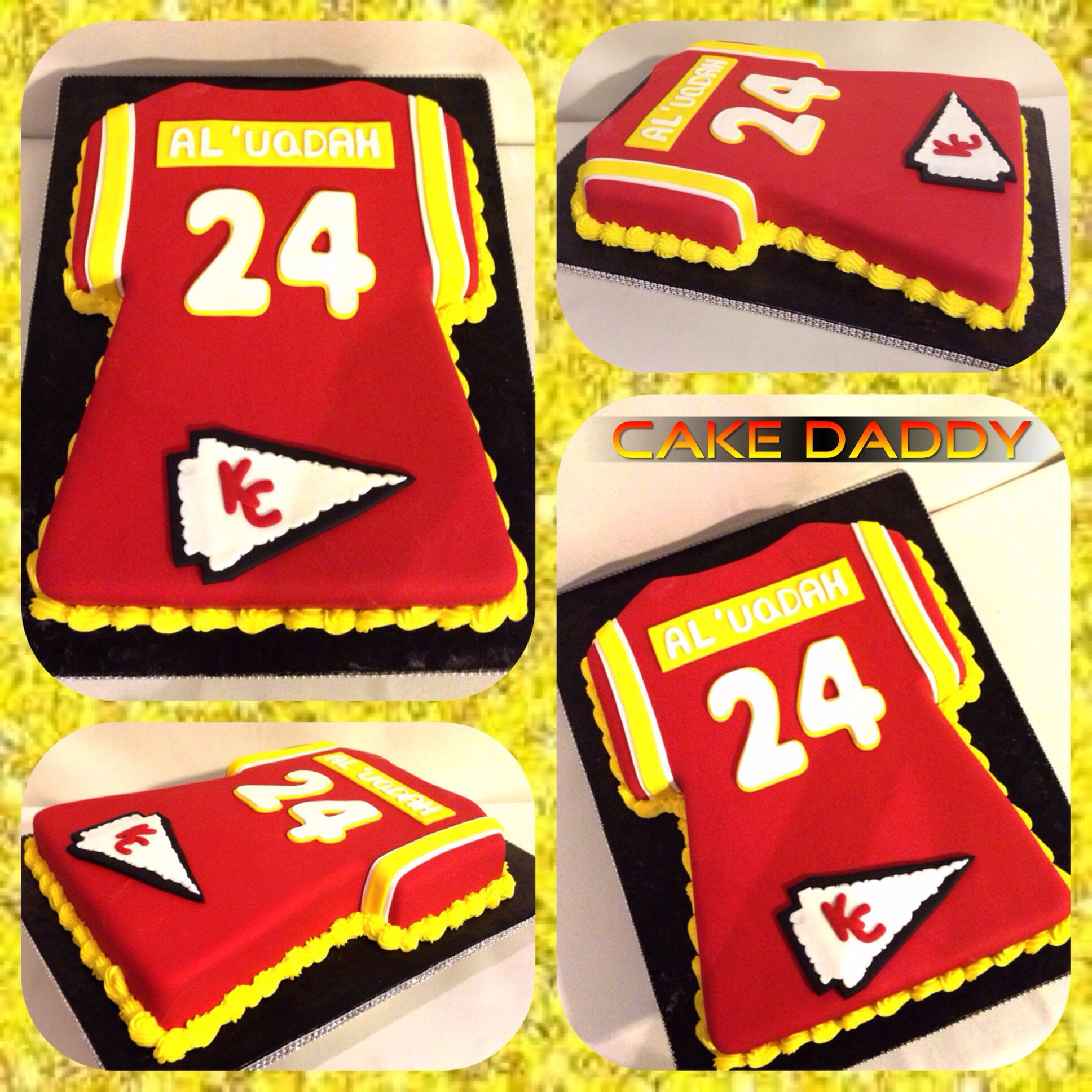 Kansas City Chiefs jersey cake Cakes Pinterest Kansas Cake
