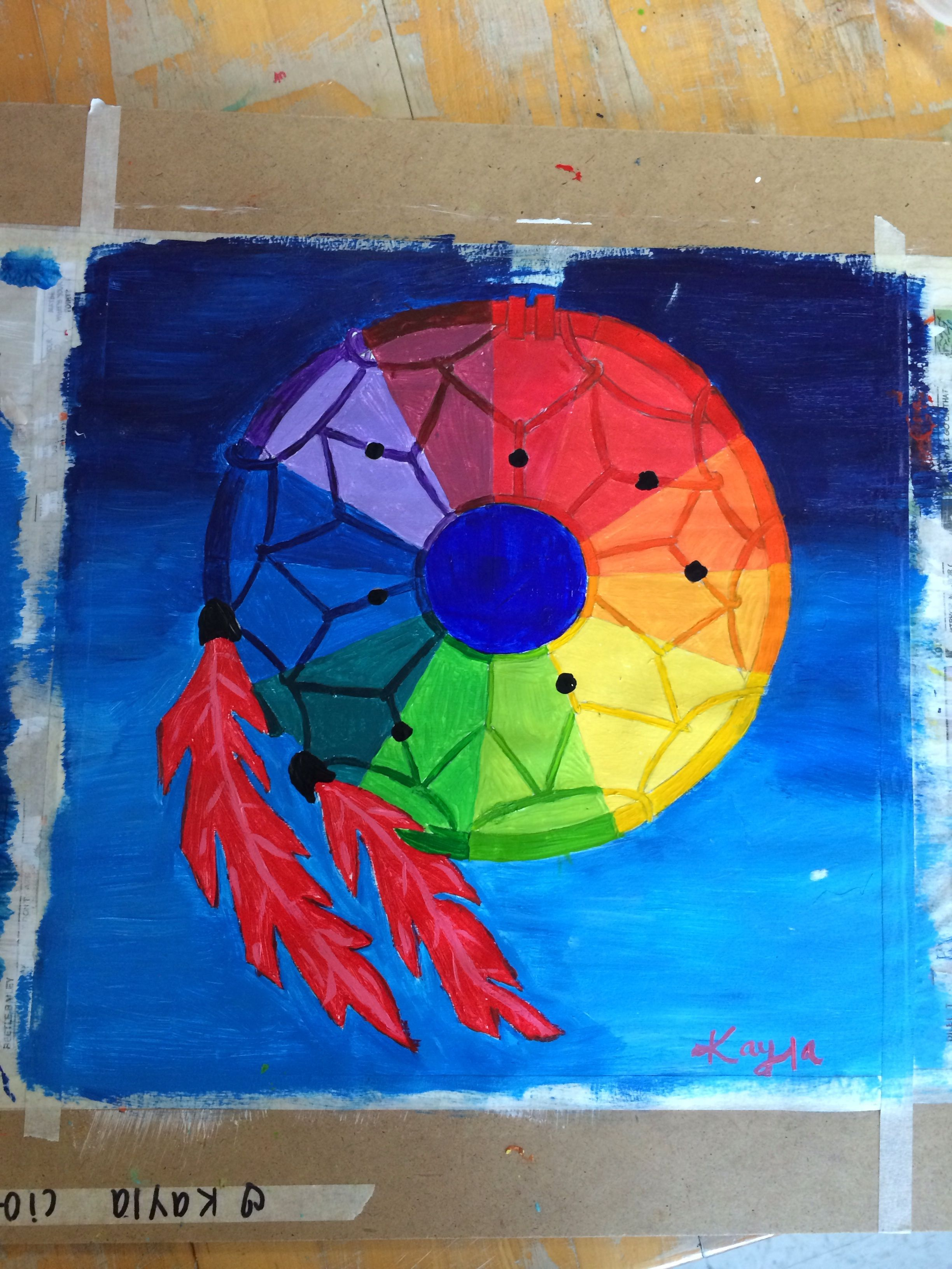Color art dreamcatcher - Color Wheel Dream Catcher