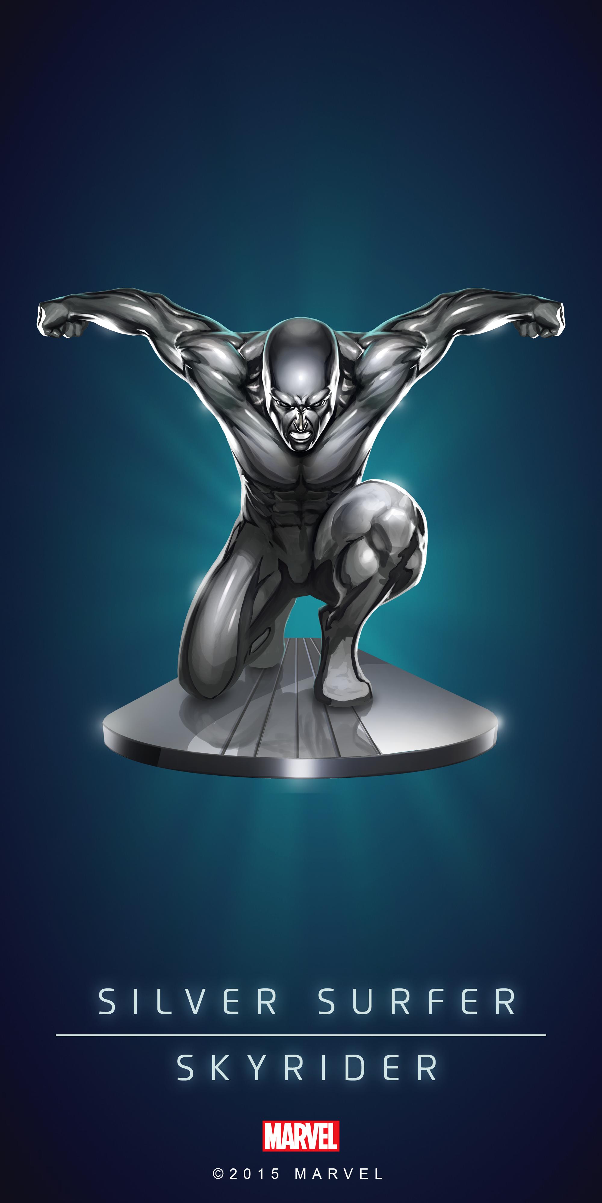 Silver Surfer Superhero Poster Fan T Shirt