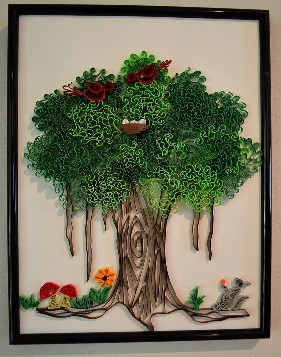 banyan tree by keian on etsy quilling tree pinterest rh pinterest es  quilling christmas tree patterns