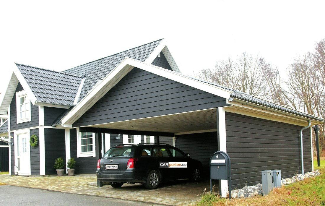 Carport svart s k p google carport pinterest for Carport flensburg