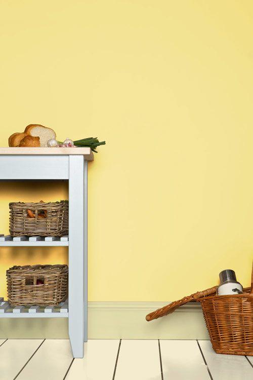 Sweet Home Zitronengelb Wandfarbe