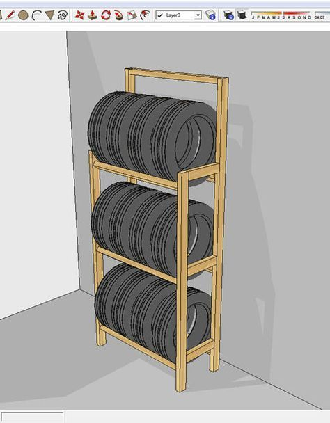 cheap and easy to build tire rack reifen pinterest reifen werkstatt und garage. Black Bedroom Furniture Sets. Home Design Ideas