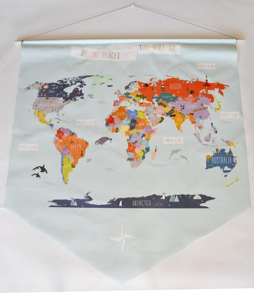 Giant canvas wall banner world map world wall banner and products giant canvas wall banner world map sciox Gallery