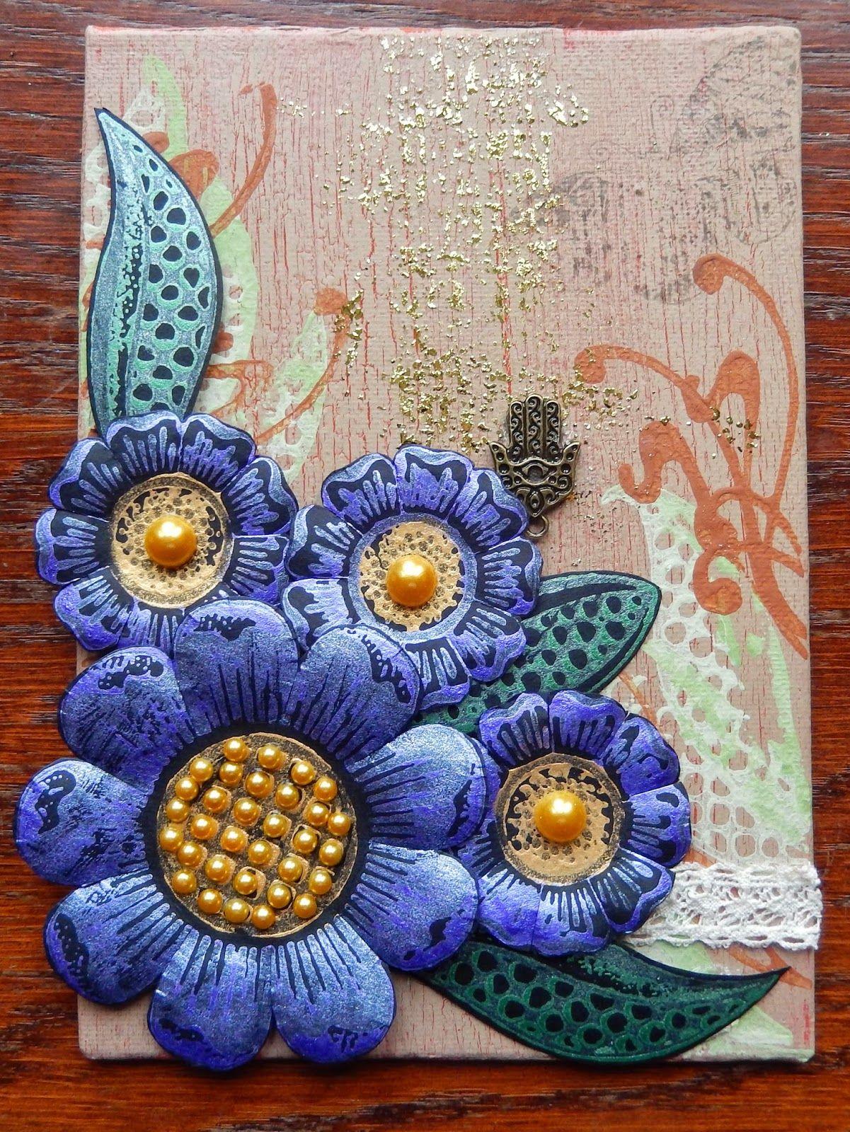 Sue's Crafty Corner: Mini Canvas