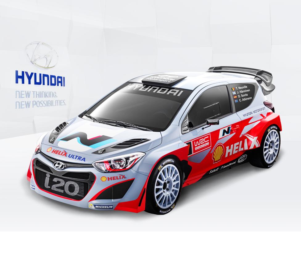 Hyundai i20 world rally car hyundai world rally car i20 wrc is based on hyundai