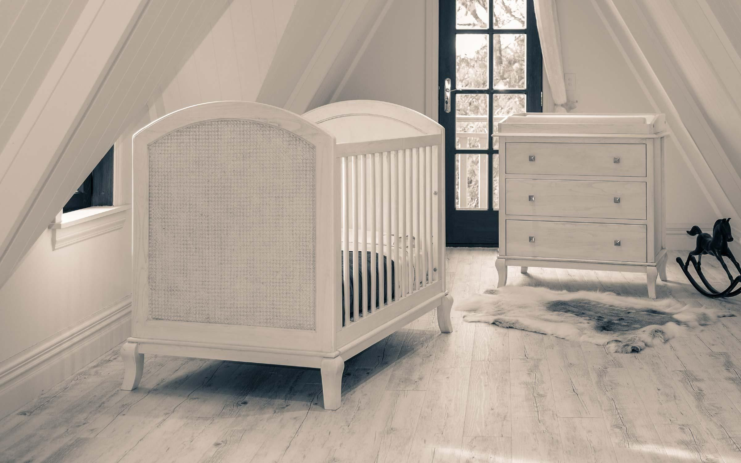Grotime Chateau Cot White Washed White Wash White Nursery Cot