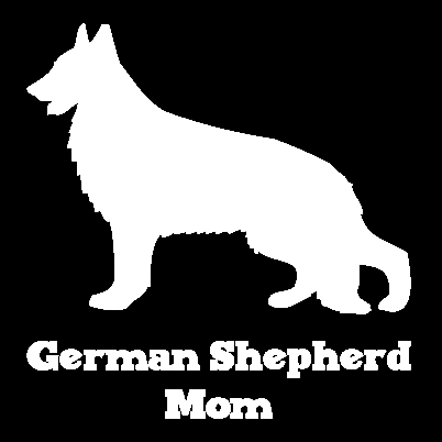 German shepherd mom vinyl car window decal