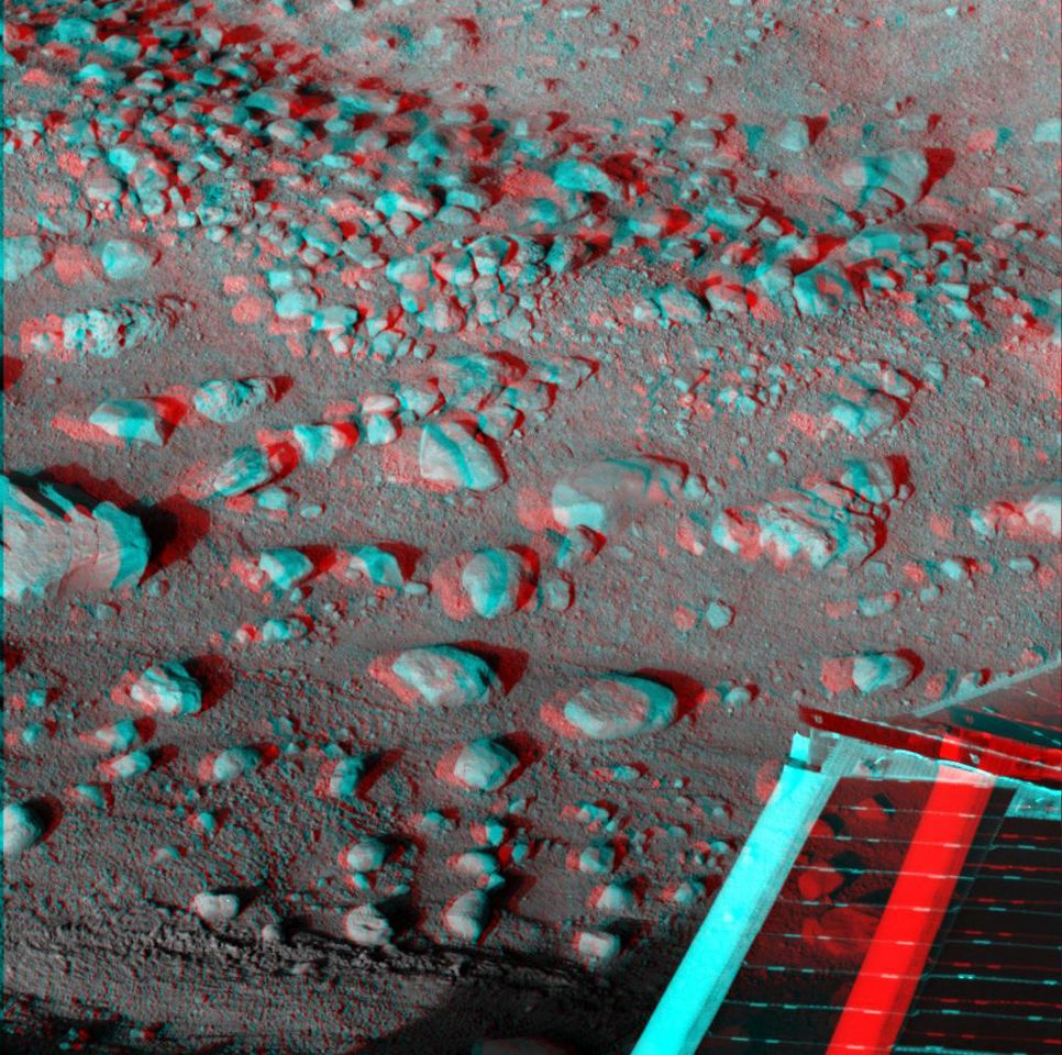 See Mars in 3-D! Make your own 3-D glasses and use them to view the video and images of Mars.