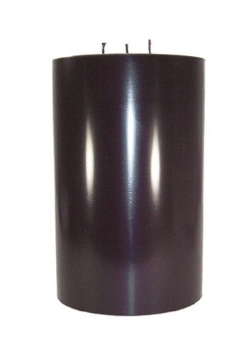 Large Black Pillar Candle 6x9 5 3 Wick Glossy Solid Color Unscented Usa Quality Ebay Black Pillar Candles Pillar Candles Candles