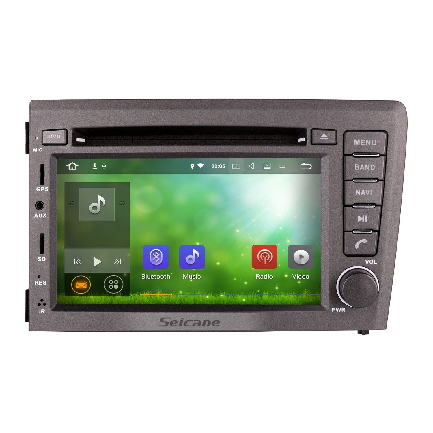 Seicane 2001-2004 VOLVO S60 V70 Android 7.1 HD Touch Screen DVD Player  Radio Bluetooth