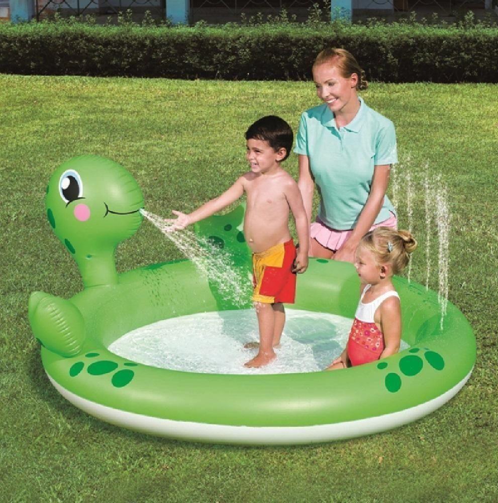 Inflatable Swim Pool Sprinkler Sprayer Children Kid Toddler Infant Garden Paddle