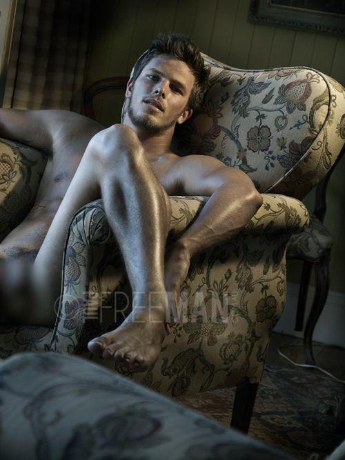 Snowblower naked man butt