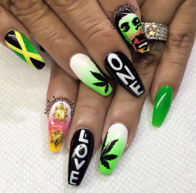pinterest: @ Jule Harris | Nails | Pinterest | Bob marley nails ...