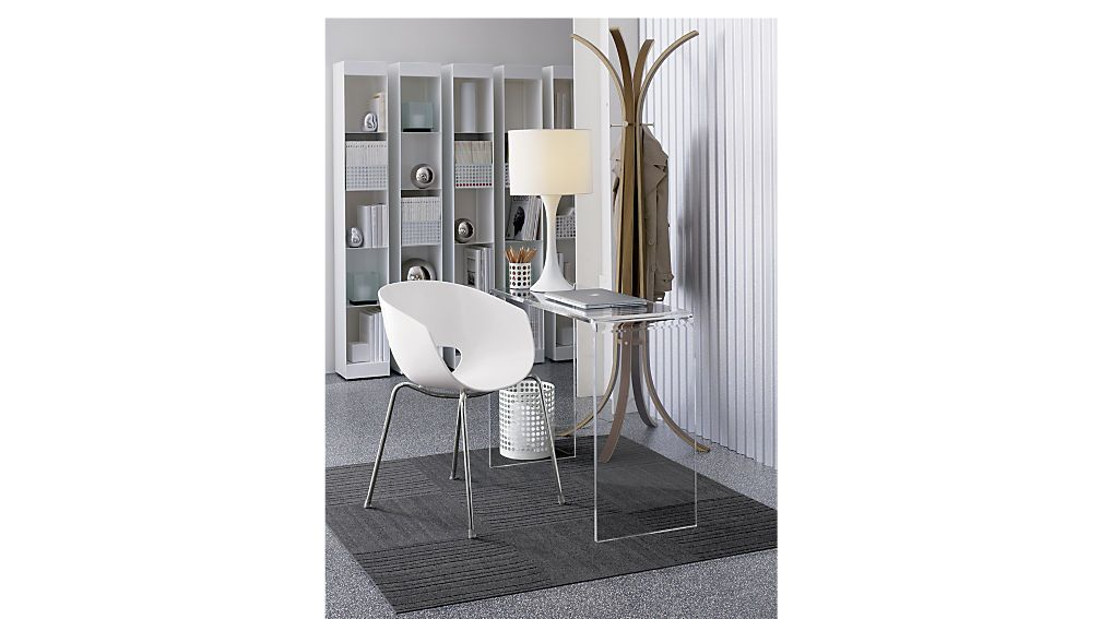 Peekaboo 38 Acrylic Console Table Acrylic Decor White Table Lamp Decorating Small Spaces