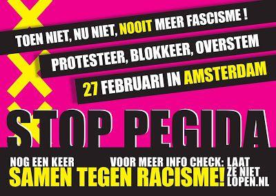 Laat ze niet lopen! - protesteer tegen extreemrechtse demonstraties!