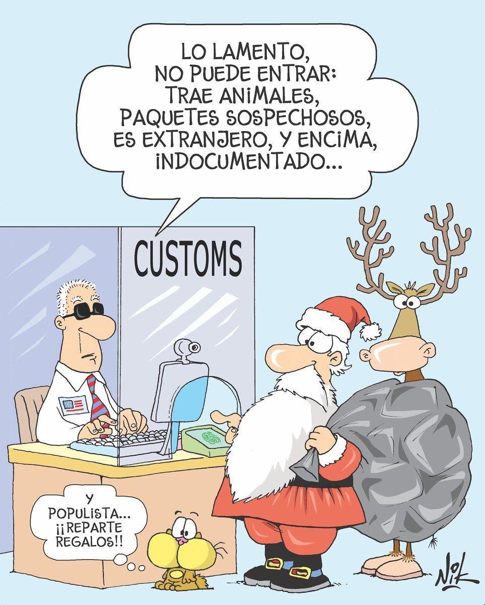 Santa No Puede Pasar Por Aduana Comics Kingdom Spanish Memes Christmas Memes
