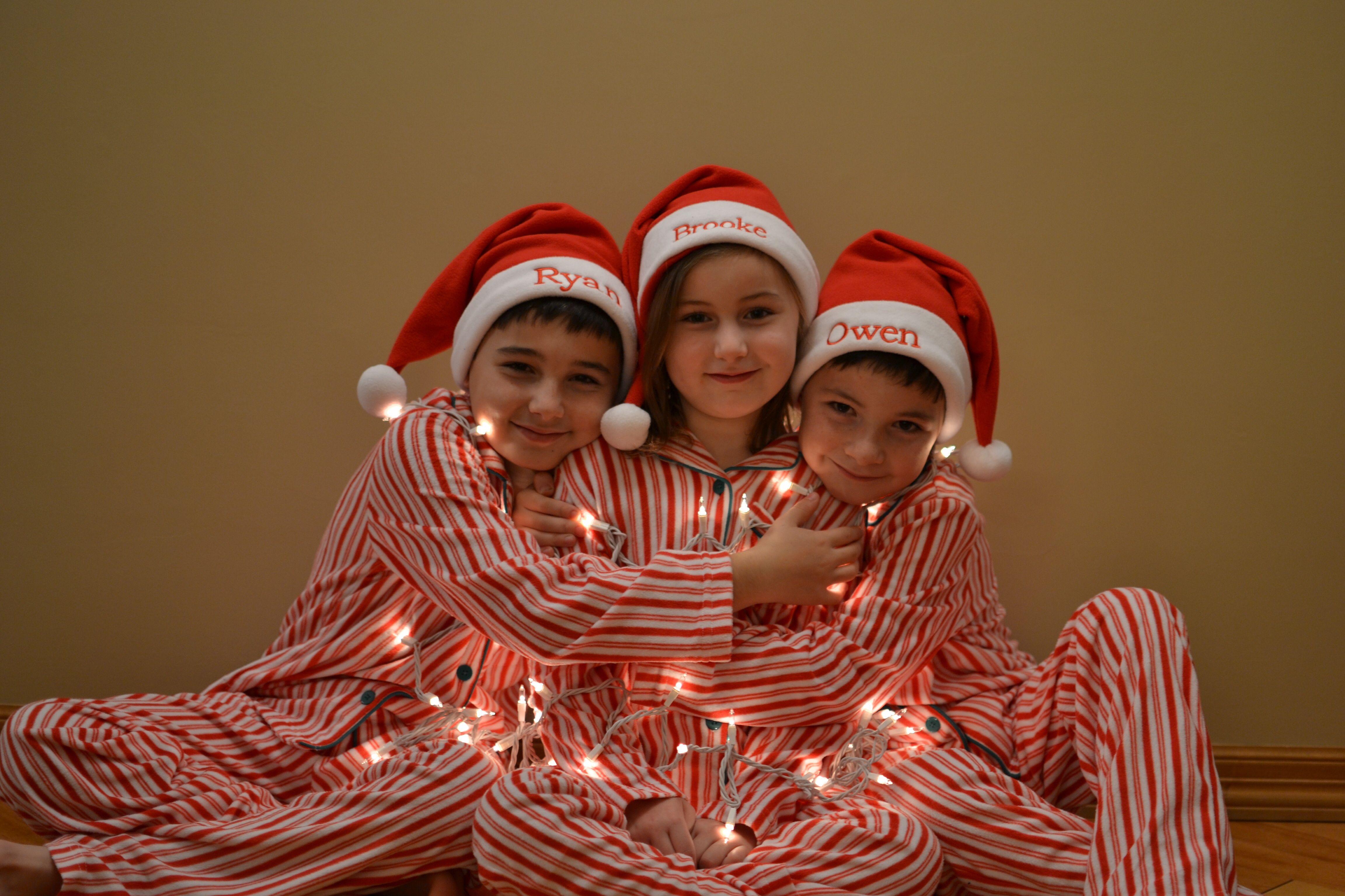 Candy Cane Fleece Matching Family Pajamas Matching