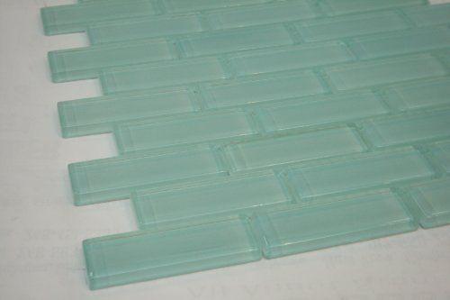 Soft Mint 1x3 Aqua Blue Glass Tile Price Per Piece 1 Piece 875 Square Feet Blue Glass Tile Tiles Price Glass Tile