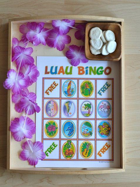 Luau Bingo (from Sorting Sprinkles) | HAWAIIN PARTY | DIY