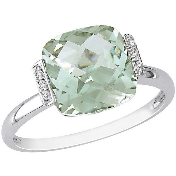 Diamond And Green Amethyst Ring 300 Liked On Polyvore