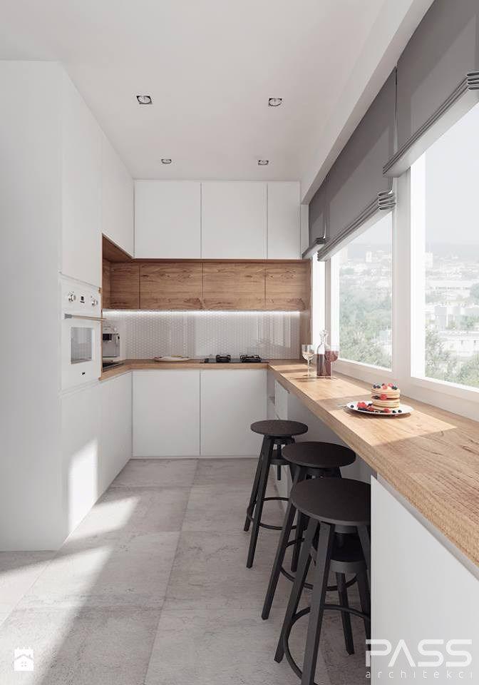 Aranżacje wnętrz - Kuchnia projekt 10 - Średnia otwarta wąska - u küchen bilder