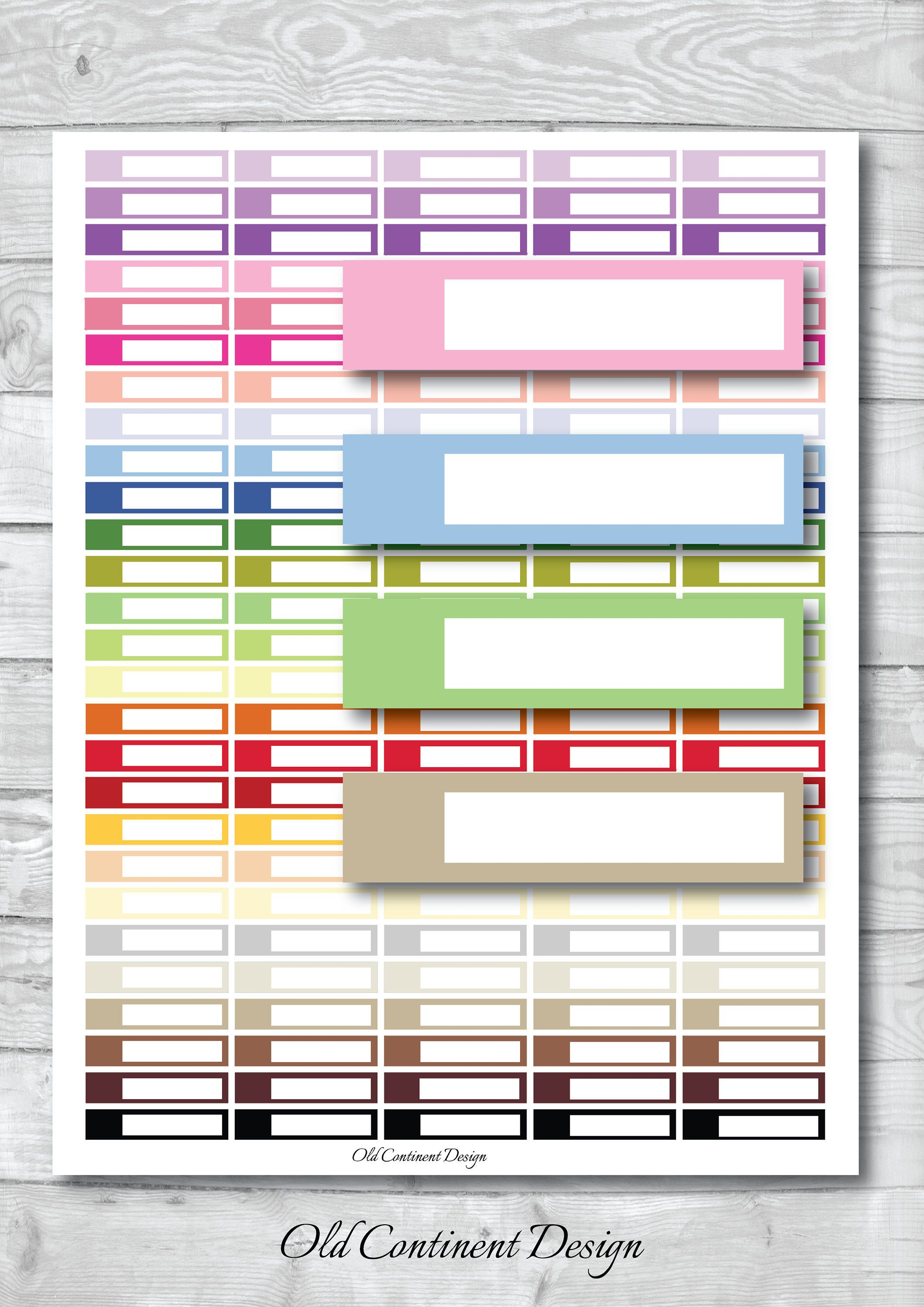 blank planner stickers, blank stickers, printable blank sticker