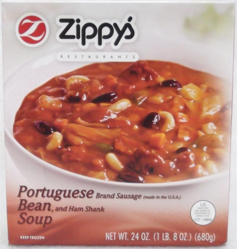 Zippy's Portuguese Bean Soup 24oz(Frozen Product) Fedex Overnight or Fedex 2Day Shipping Required