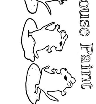 Mouse Paint Coloring Page- Great Pre-K or K Sub Plan