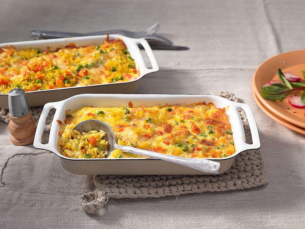 Allerfeinster Reis - Gemüseauflauf | Gemüseauflauf, Reis und Möhren