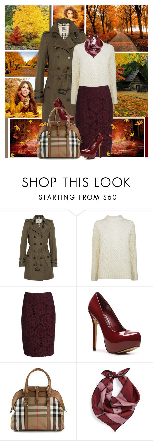 """Falling in love!"" by instylefun ❤ liked on Polyvore featuring David Webb, Burberry and Steve Madden"