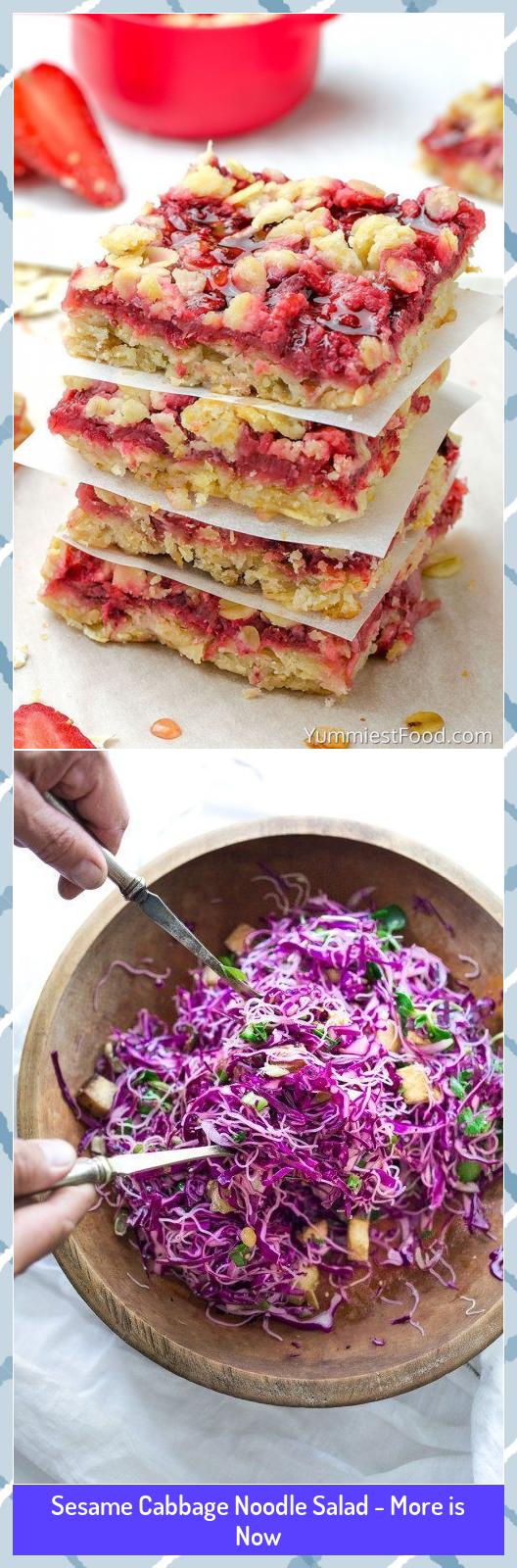 Sesame Cabbage Noodle Salad - More is Now #Cabbage #Noodle #Salad #Sesame