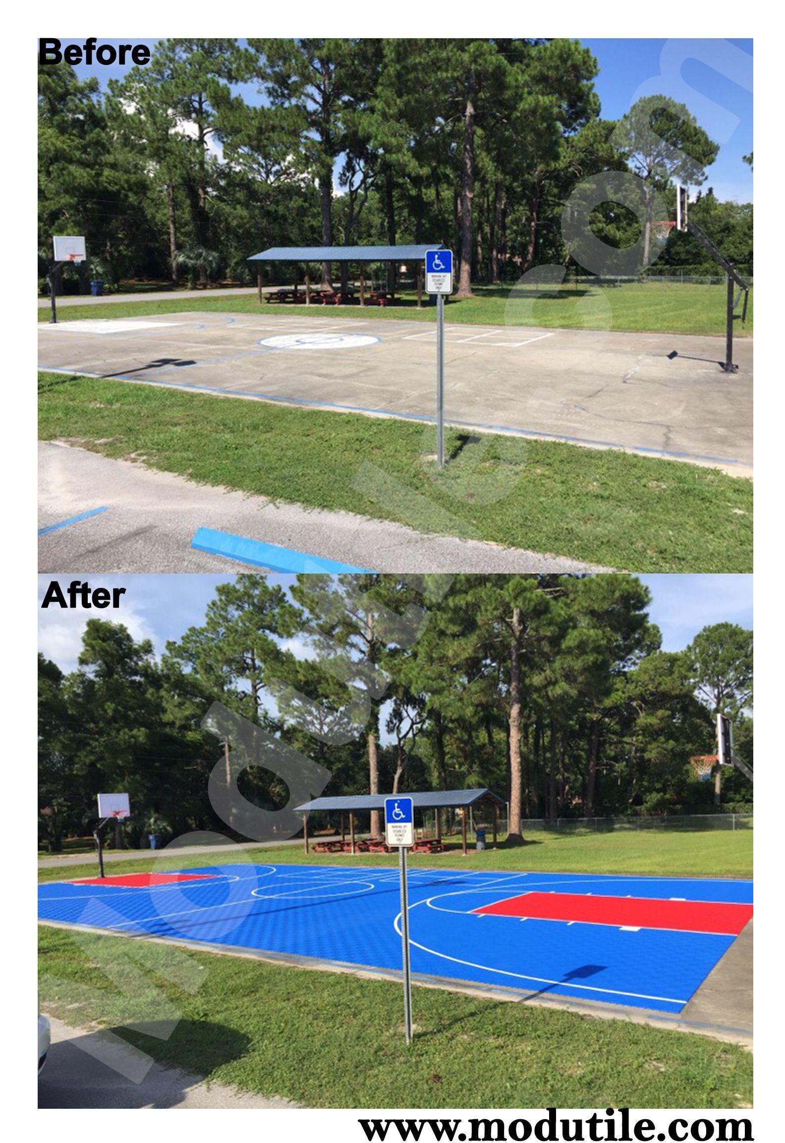 Outdoor Basketball Full Court Outdoor Basketball Court Pinterest